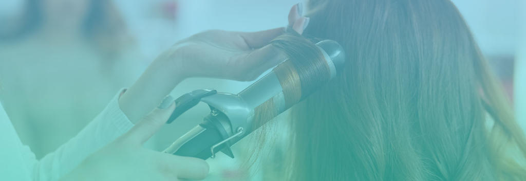 Curling Hair Escape Salon Suites